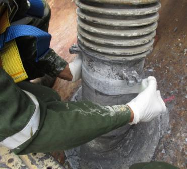 Apply fiberglass repair tape on the pipe