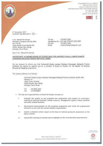 BOS Appoinment Letter -Ir.Dr. Mahadi1-1