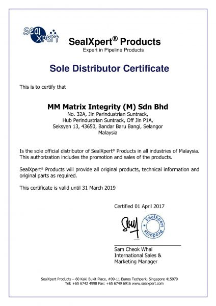 SealXpert Sole Distributor Certificate (01 April 2017)-1